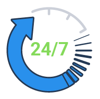 24/7/365 Phone, Chat, and Email Support