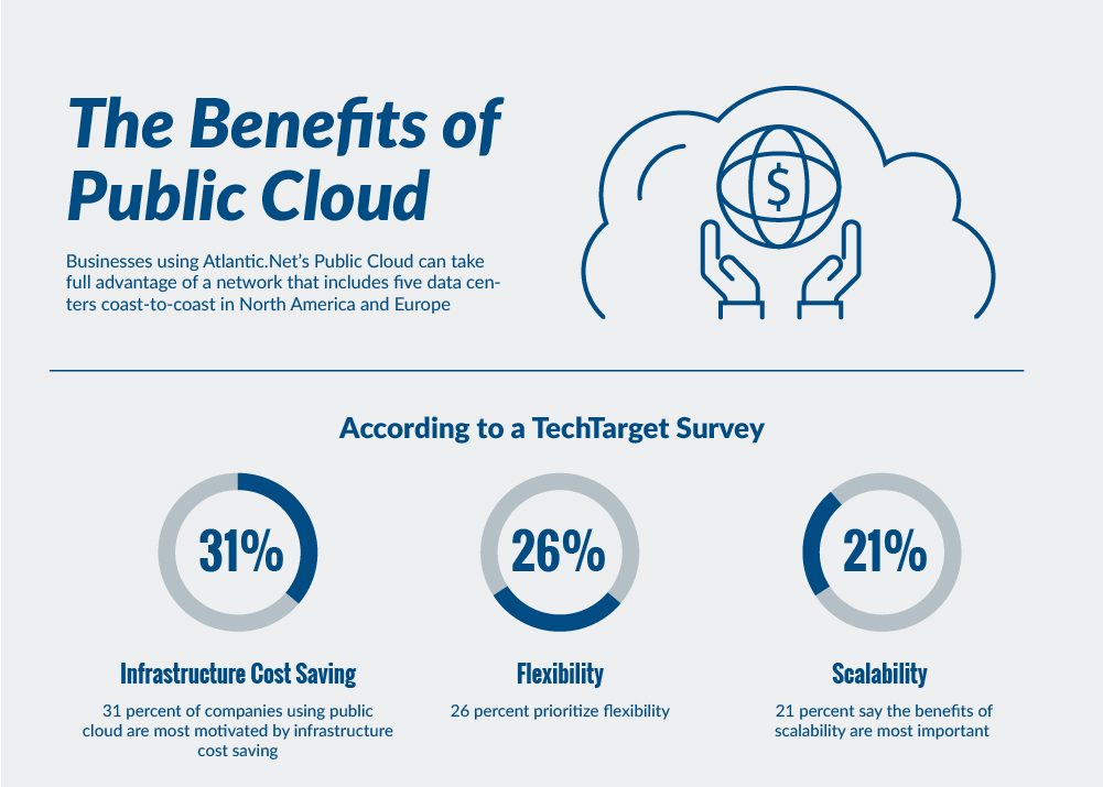 Benefits of Public Cloud Hosting Info Graphic