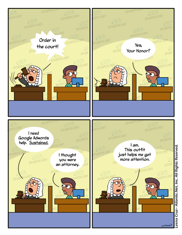attorney making decrees comic