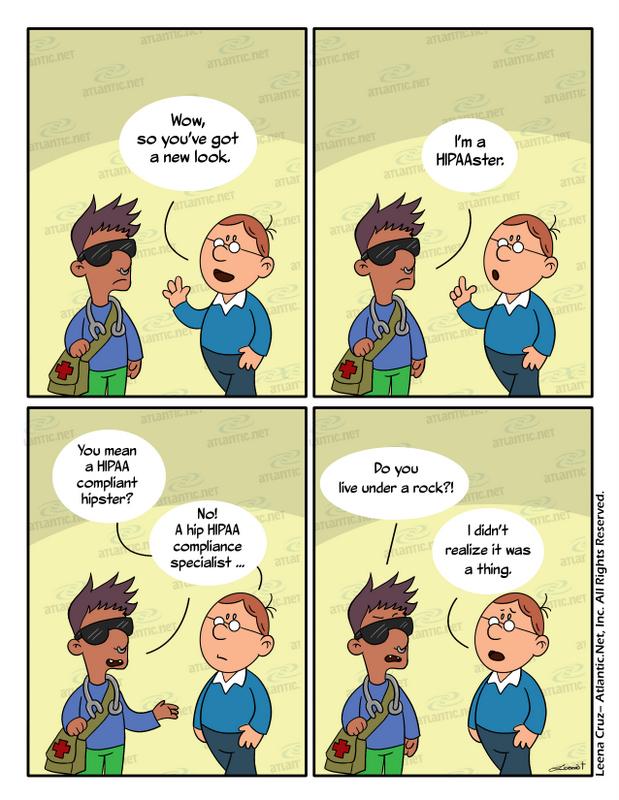 HIPAA hipster comic