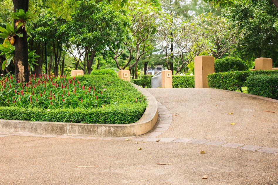 Walk Way in Public Park.