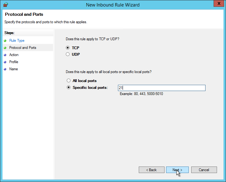 how to check if port 8530 is open server 2012