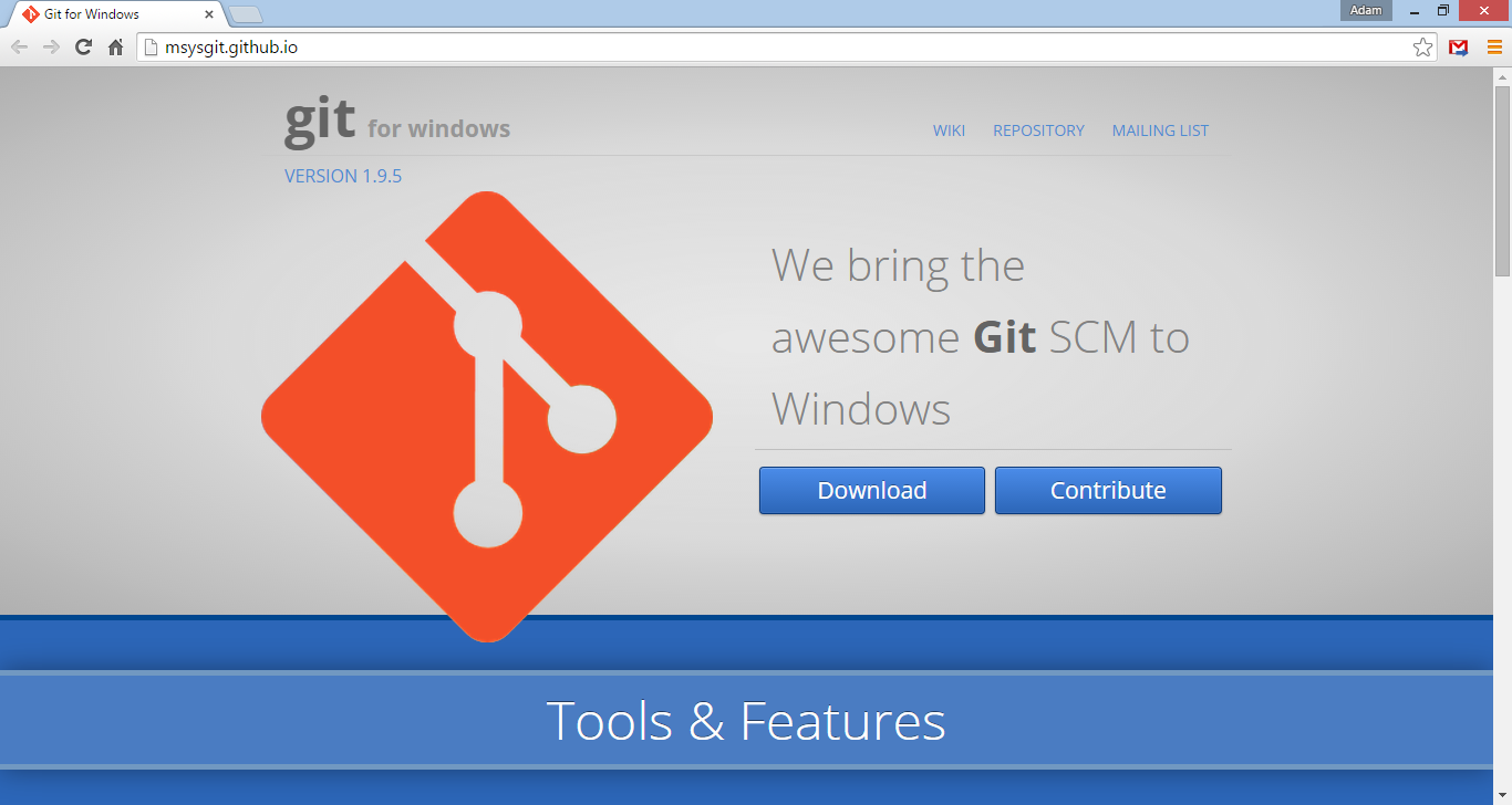 Windows Git client download page