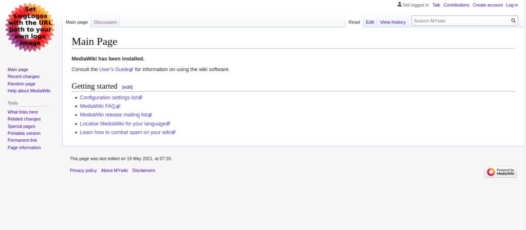 MediaWiki Dashboard Page