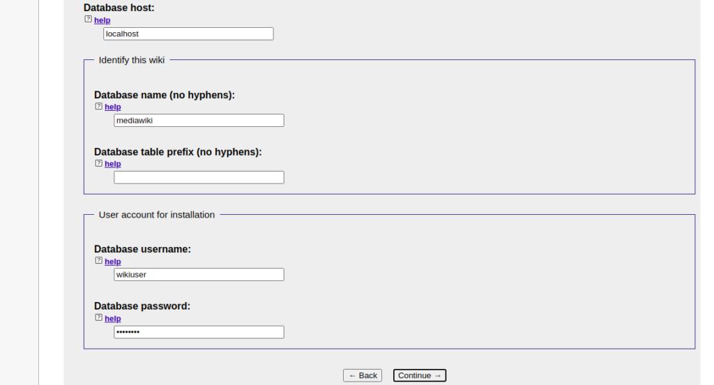 MediaWiki Database Page