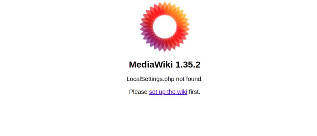 MediaWiki Setup Page