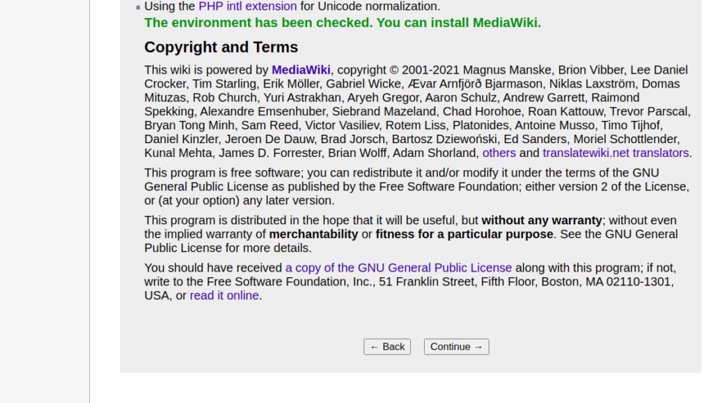 MediaWiki Terms Page
