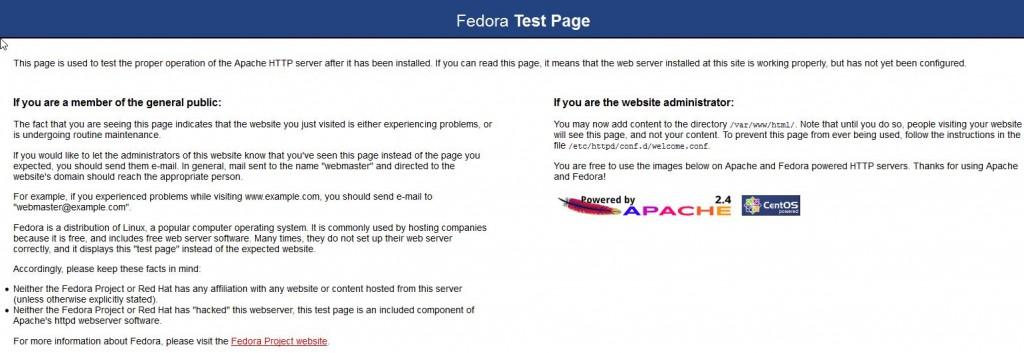 Fedora Test Page