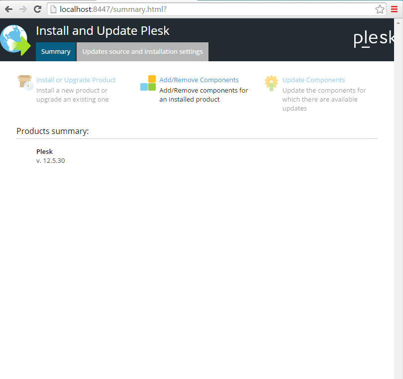Installing Plesk on Windows Server 2012