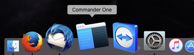 An example of the Commander One icon on the application dock