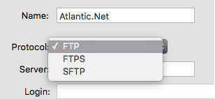 An example of choosing FTP