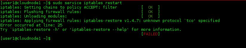 Sample Restart failure