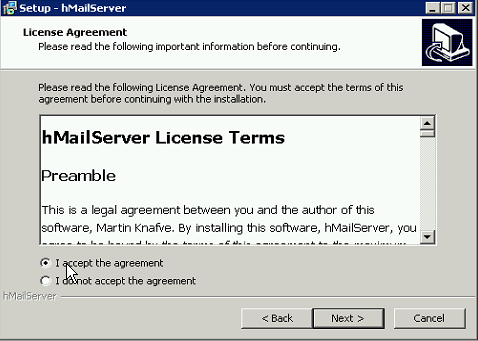 HMail license agreement