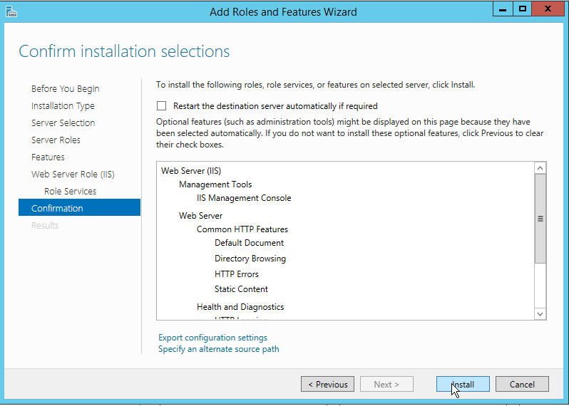 How to install IIS on Windows Server 2012 R2-09