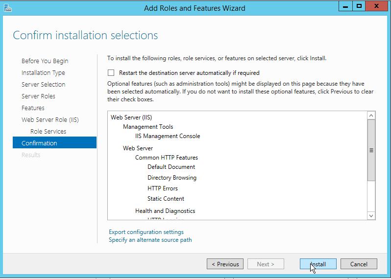 How to install IIS on Windows Server 2012 R2-09