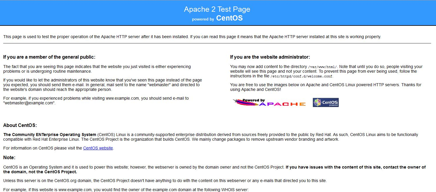 Apache 2 Test page