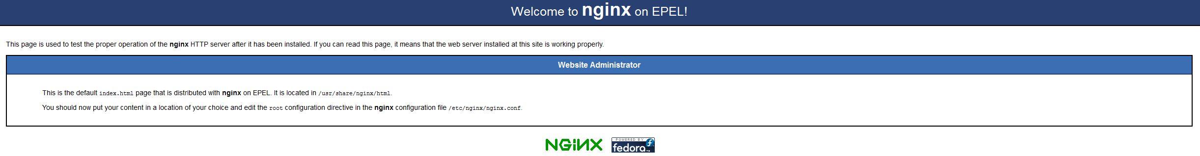 Nginx Default testpage