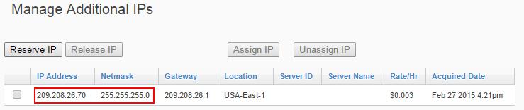 Manage Additional IPs