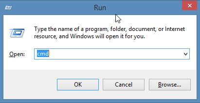 This is the Run command window in Windows Server 2012