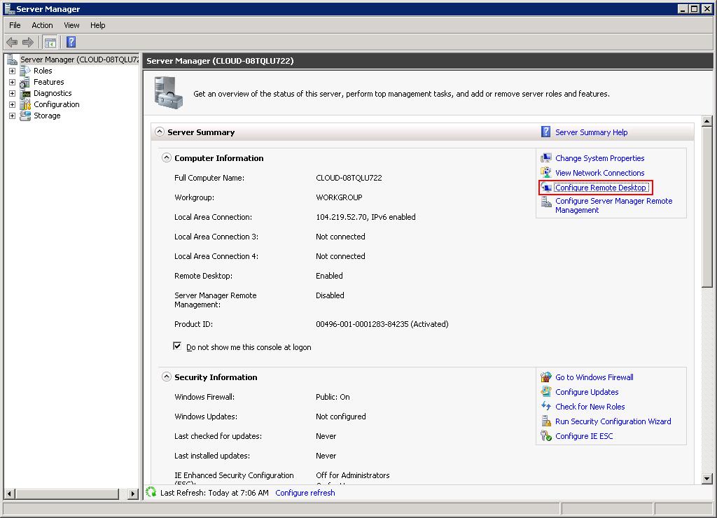 How to Configure RDP in Windows Server 2008 R2 | Atlantic Net