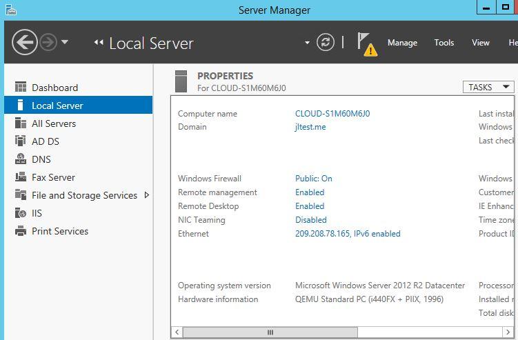 Verify remote desktop is enabled