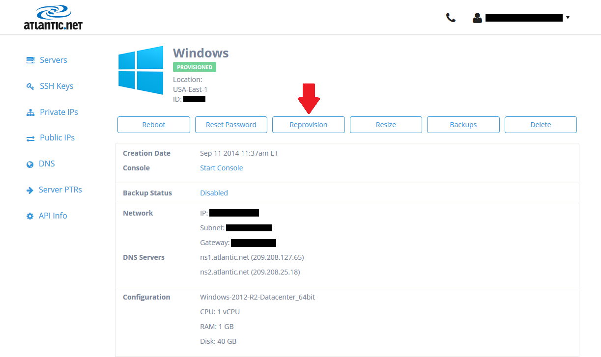How To Reprovision A Cloud Server-2