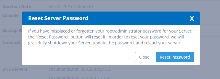 Confirm Reset Password