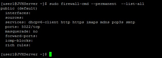 This is the default page after configuring the Firewalld rules on a CentOS 7 server