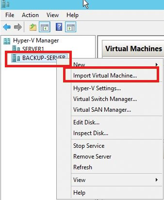 Importing a Cloned VM in Windows Server 2012-1
