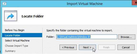 Importing a Cloned VM in Windows Server 2012-2