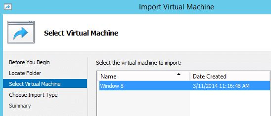 Importing a Cloned VM in Windows Server 2012-3