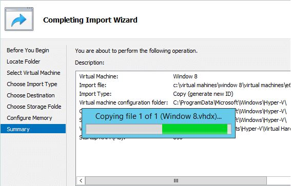 Importing a Cloned VM in Windows Server 2012-7