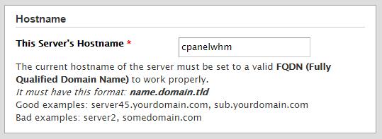 Set your servers FQDN