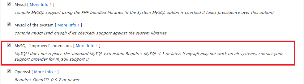 MySQLi option