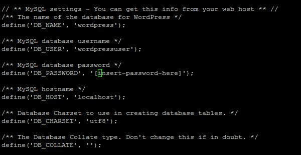 Enter DB_USER, DB_PASSWORD, DB_HOST values.