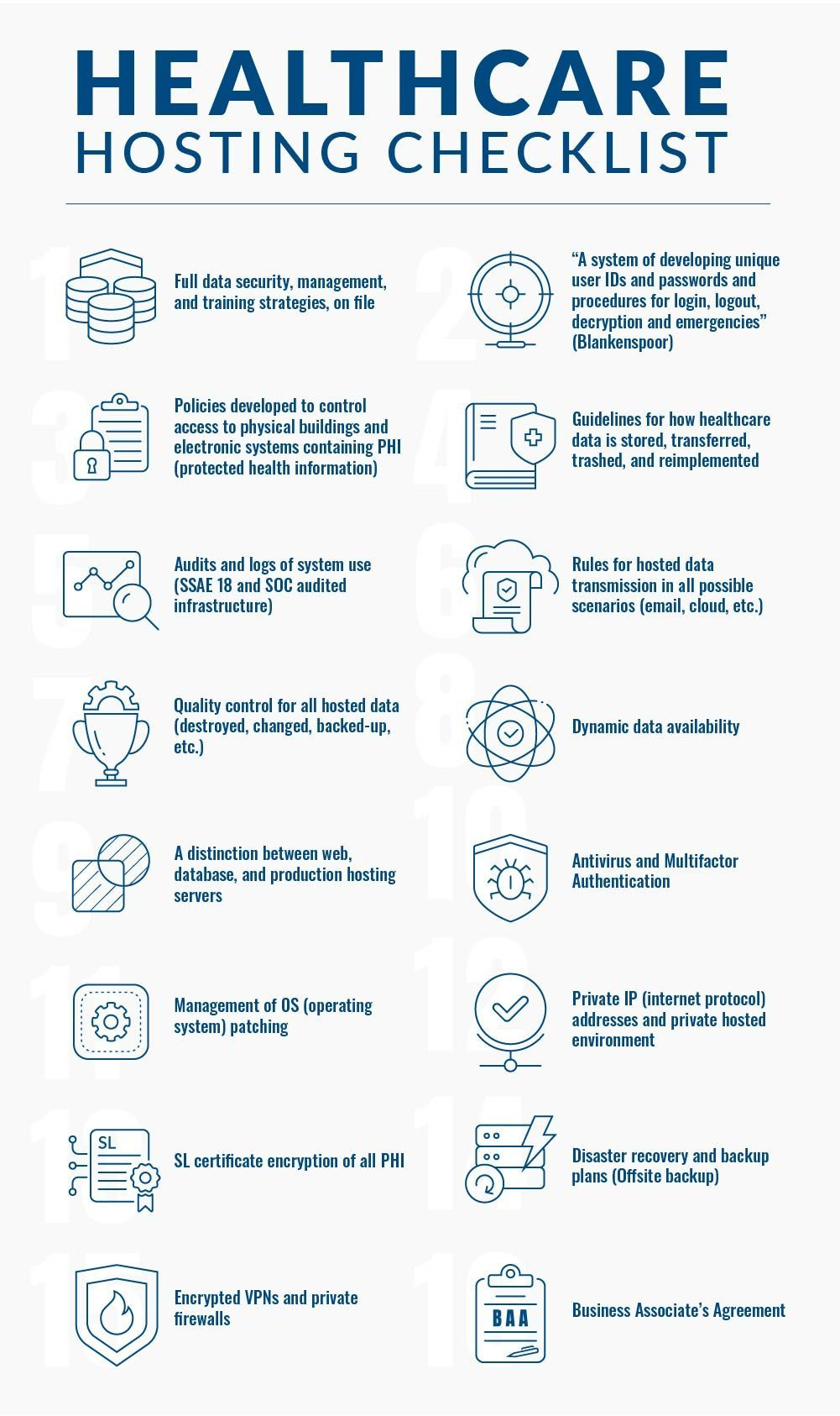 Healthcare Hosting Checklist