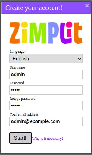 Zimplit Create Account