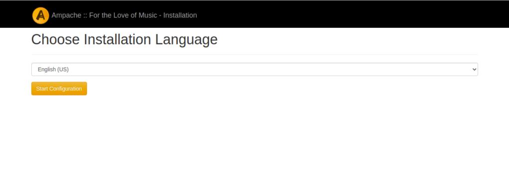 Ampache Select Language