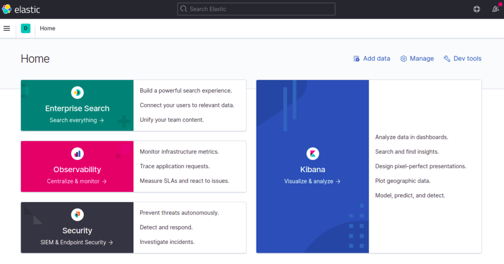 Kibana Dashboard Page