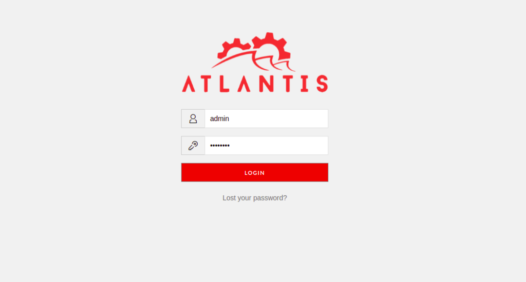 Atlantis Login Page