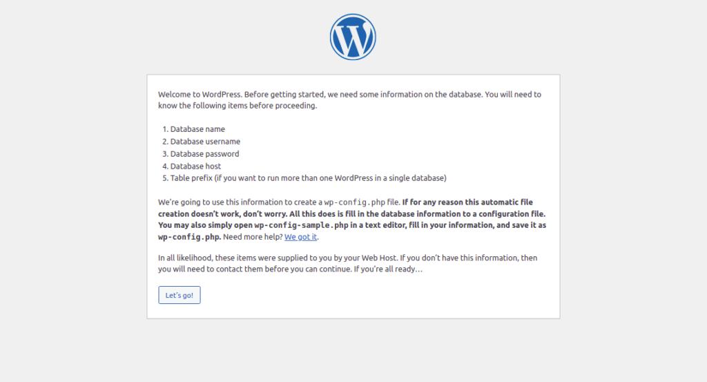 WordPress Required Configuration